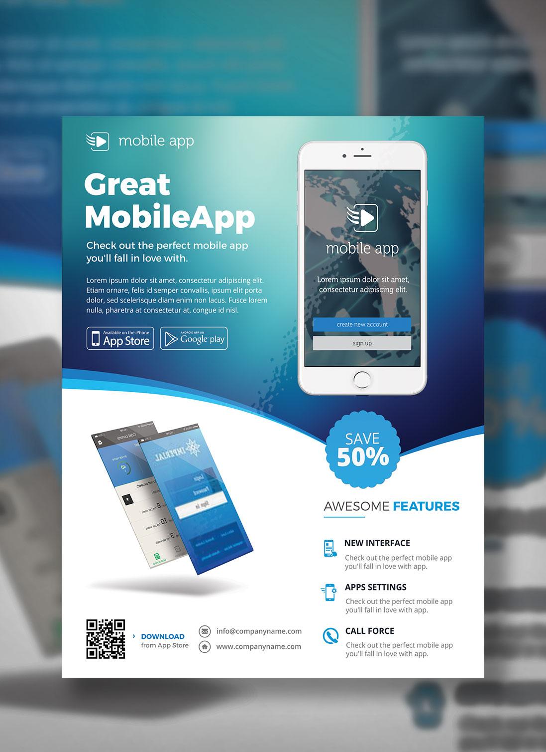 app promotional flyer on behance