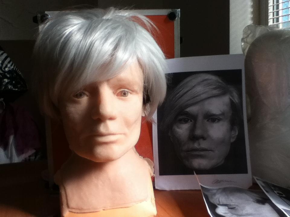 Sculpting mask prosthetics design make-up Art SFX face cast prosthetics cast silicone cast