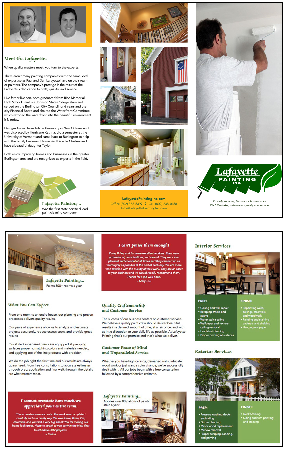 lafayette painting tri fold brochure on behance