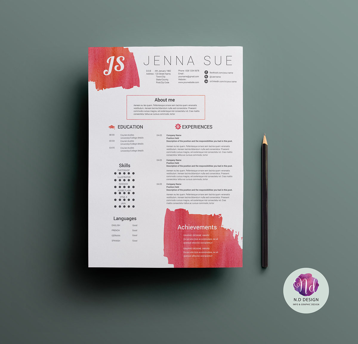 modern cv template on behance