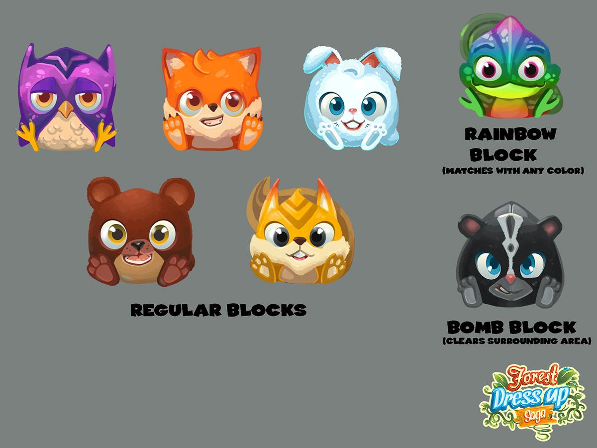 King.com concept art test silver screen king Games beaver match3 cute forest dress up saga