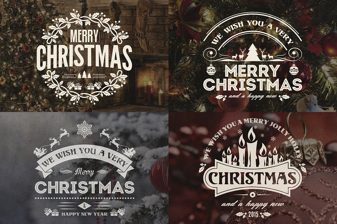 christmas new year badges labels bundle on behance