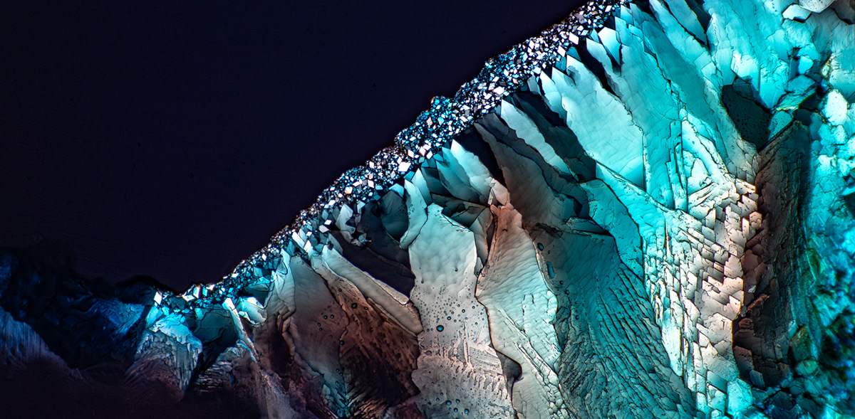 abstract Aerial crystals dissolve gif macro microscope NIKON MICROSCOPE science seattle