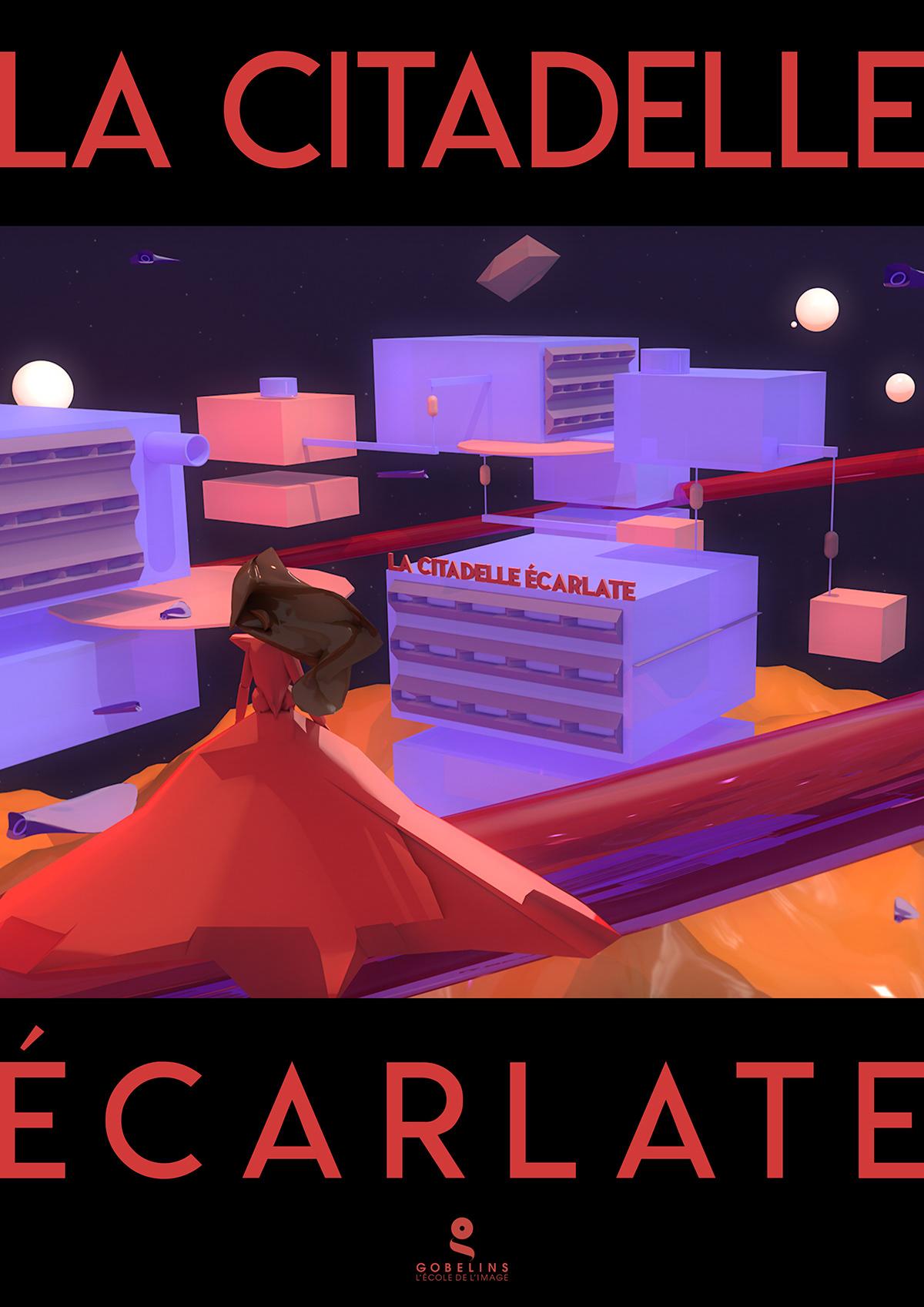 3D c4d city futur Princess story