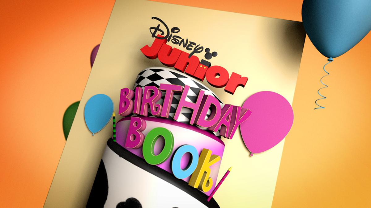 disney juniors birthday book on behance