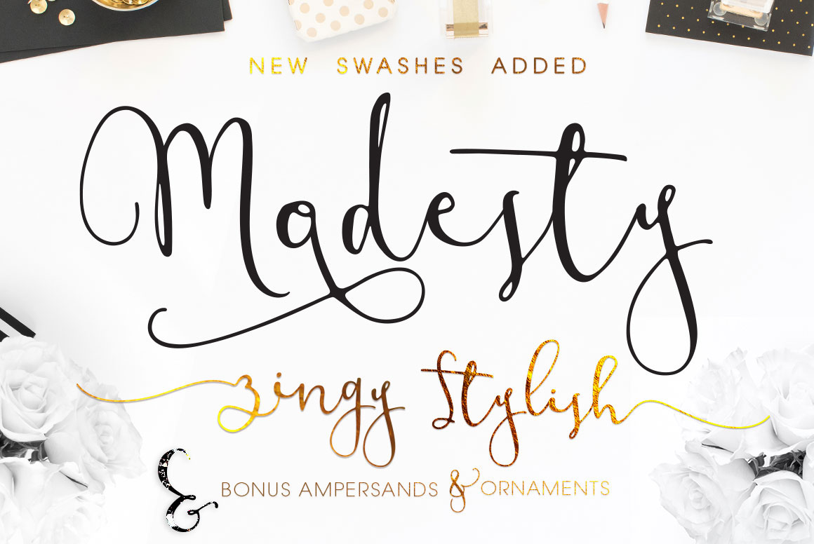 Modesty Font Freebie Modern Calligraphy Script On Behance