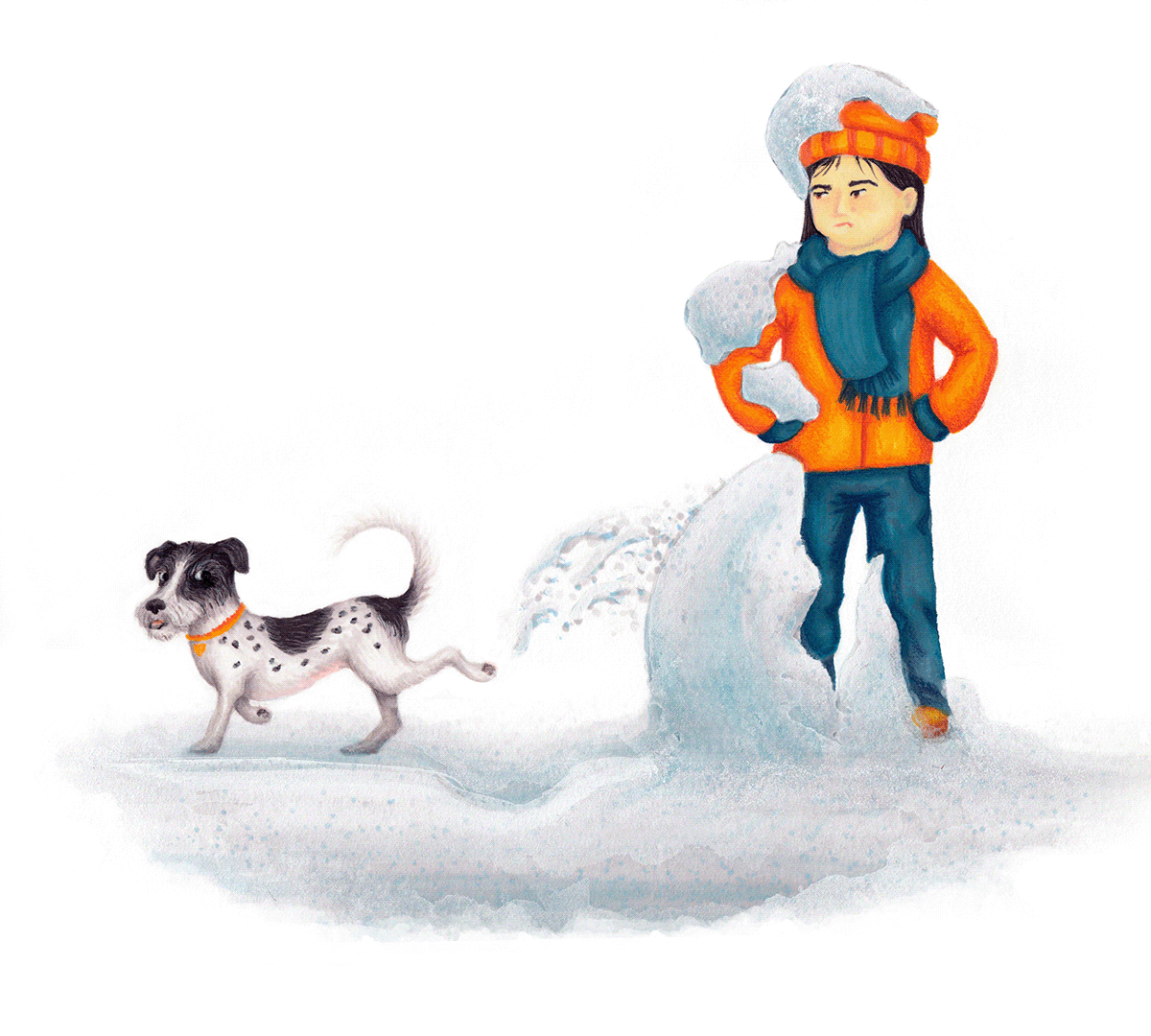 Image may contain: snow, dog and outdoor