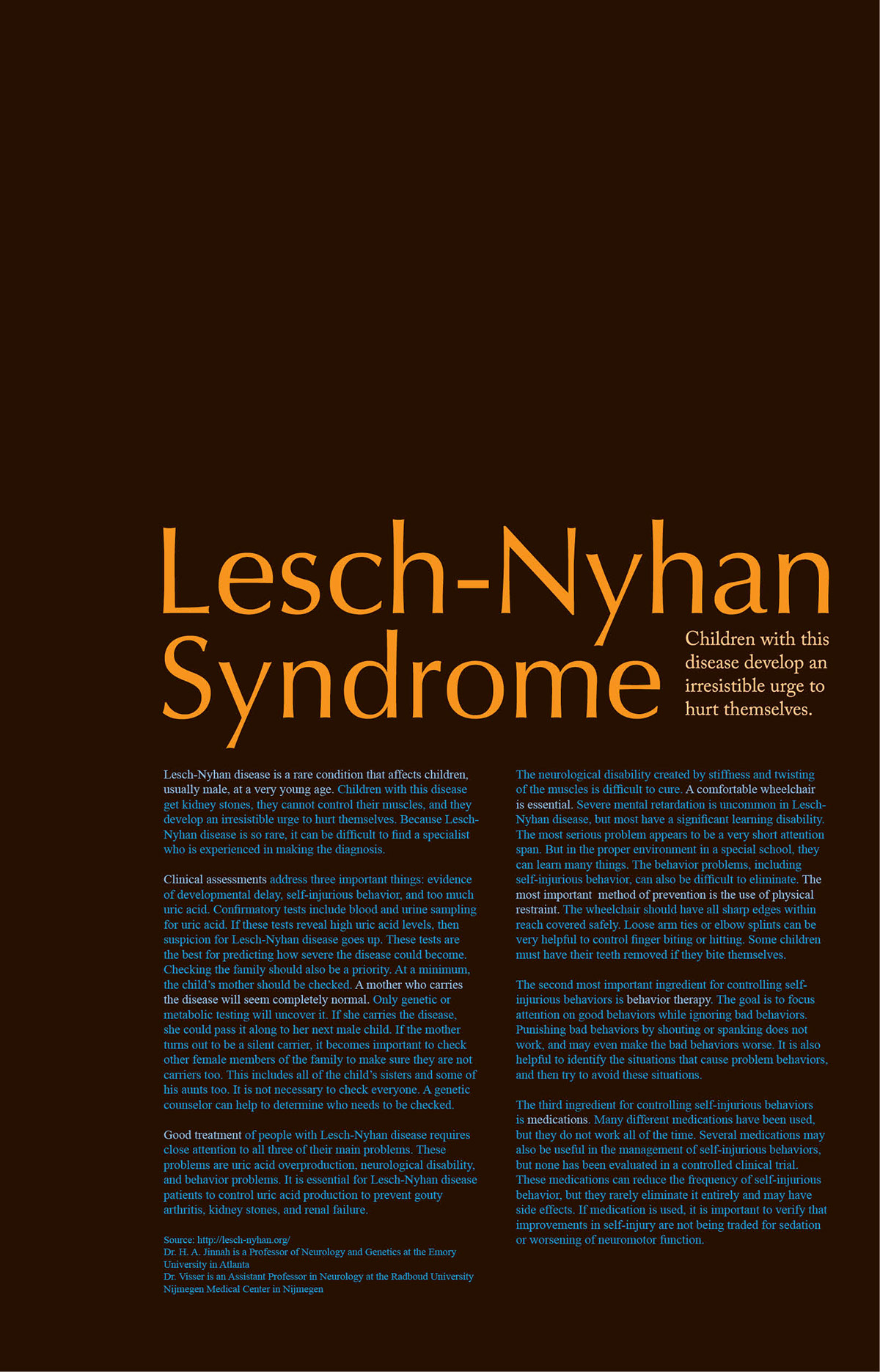 lesch nyhan syndrome research paper Institutional login login register activate.