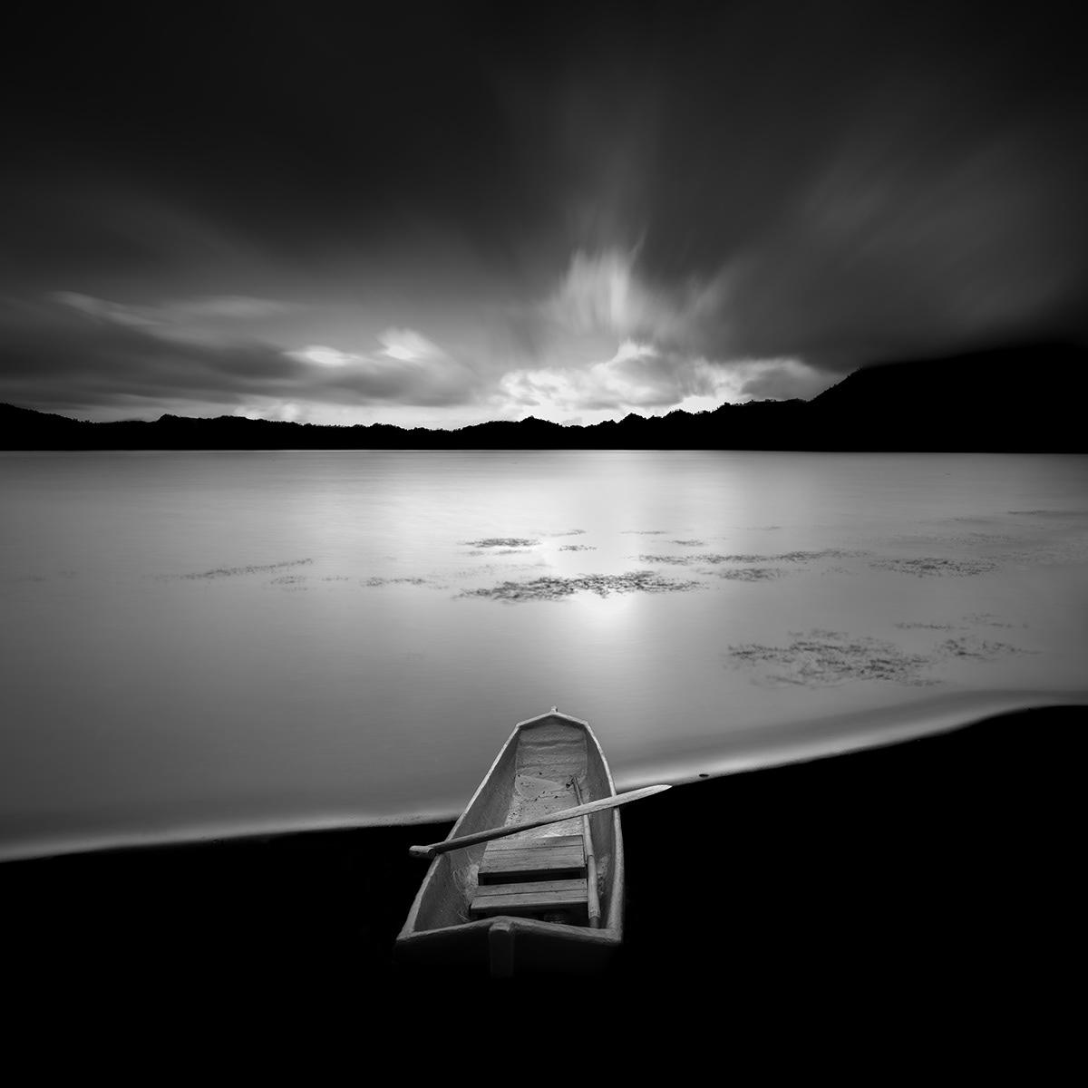 Image may contain: sky, lake and water