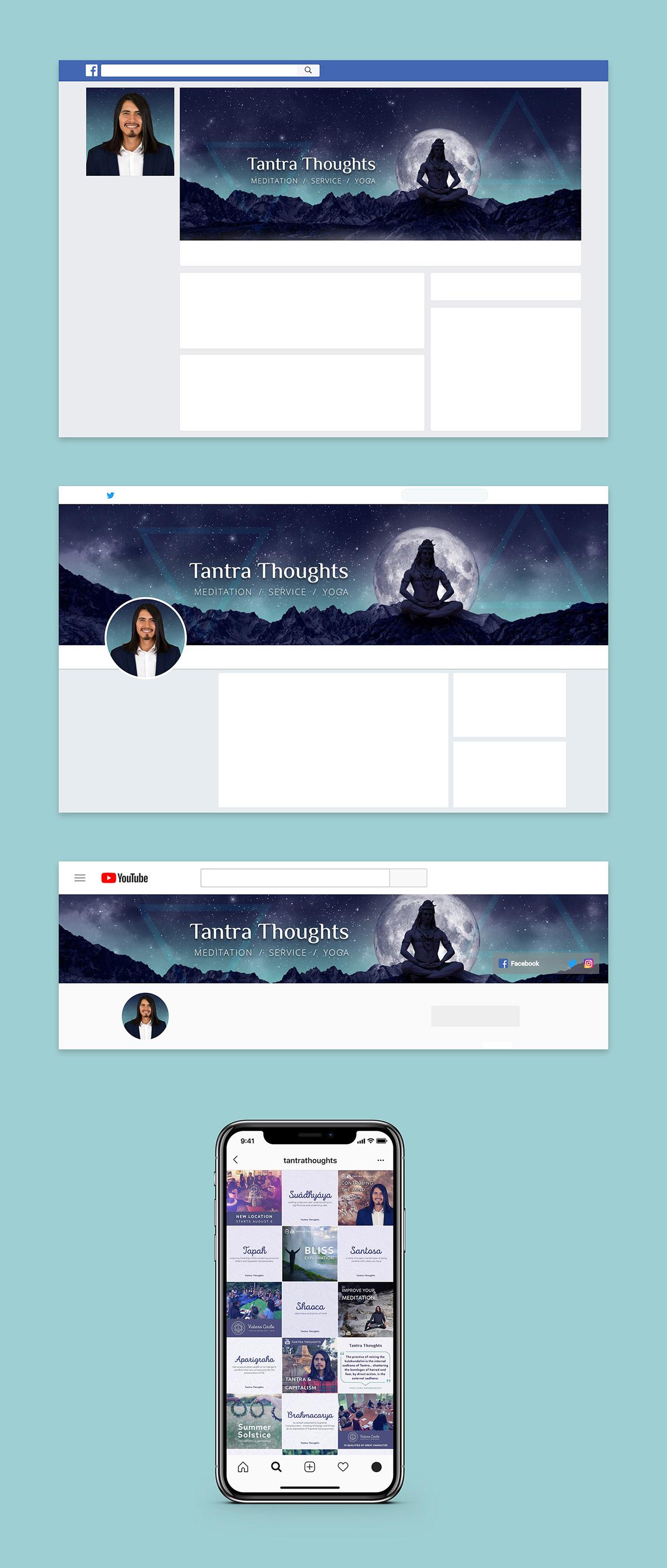 meditation Yoga Website social media life coach coaching spiritual tantra blue green