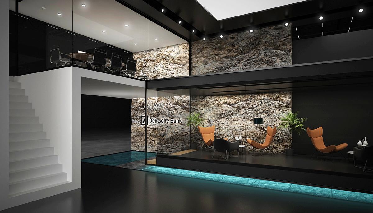 Exhibition Stand Germany : Deutsche bank exhibition stand on behance