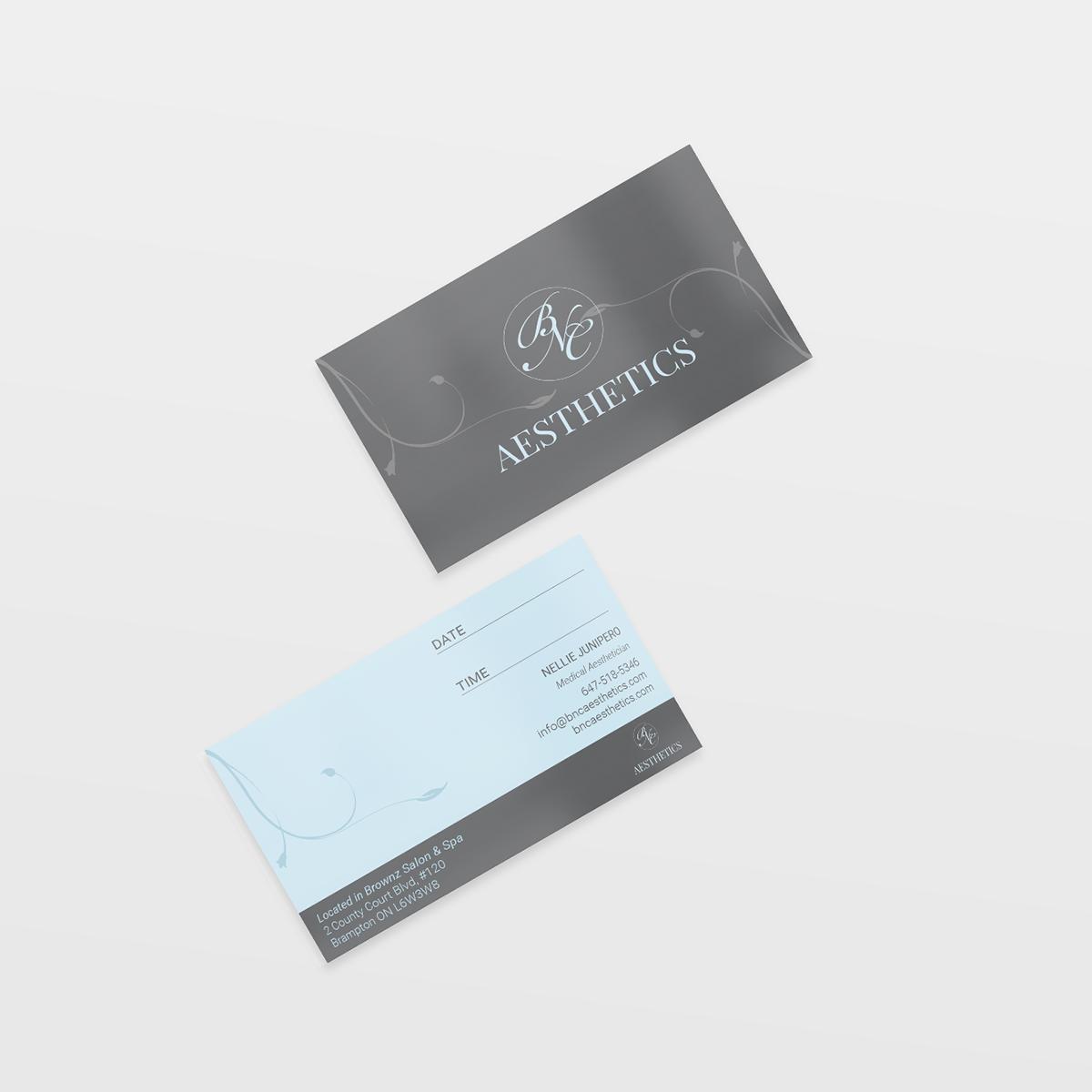 BNC Aesthetics: Business Cards on Behance