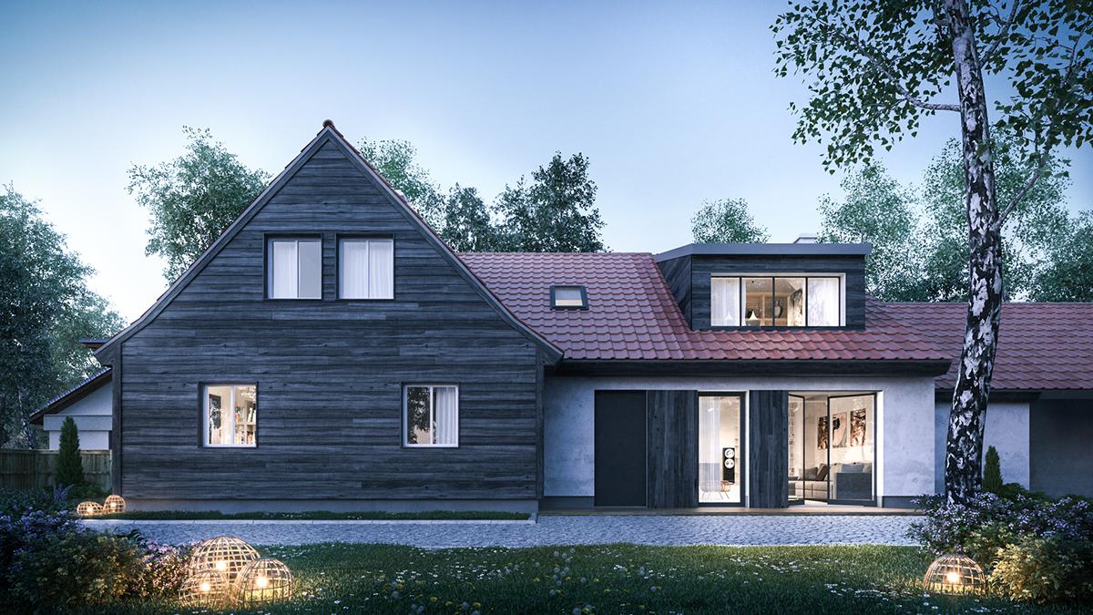 architectural visualization Render rendering archvis house 3dsmax vray exterior DUSK 3D design