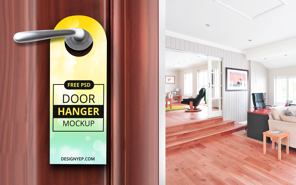 & Free Door Hanger Mockup PSD on Behance
