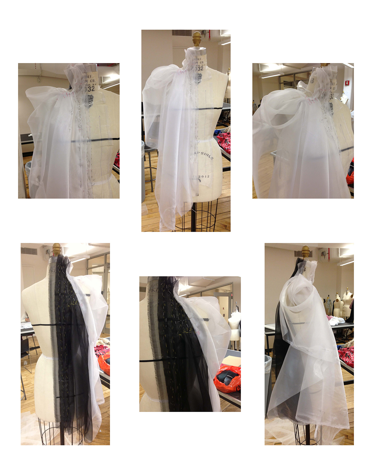 Experimental Drapes on Behance for Drapes In Garments  45ifm