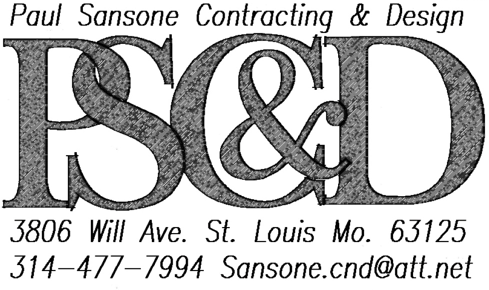 Paul sansone contracting design on behance this logo had to be mono colored because of the limitations in blueprint printing it also had to be simple and easy to read malvernweather Gallery