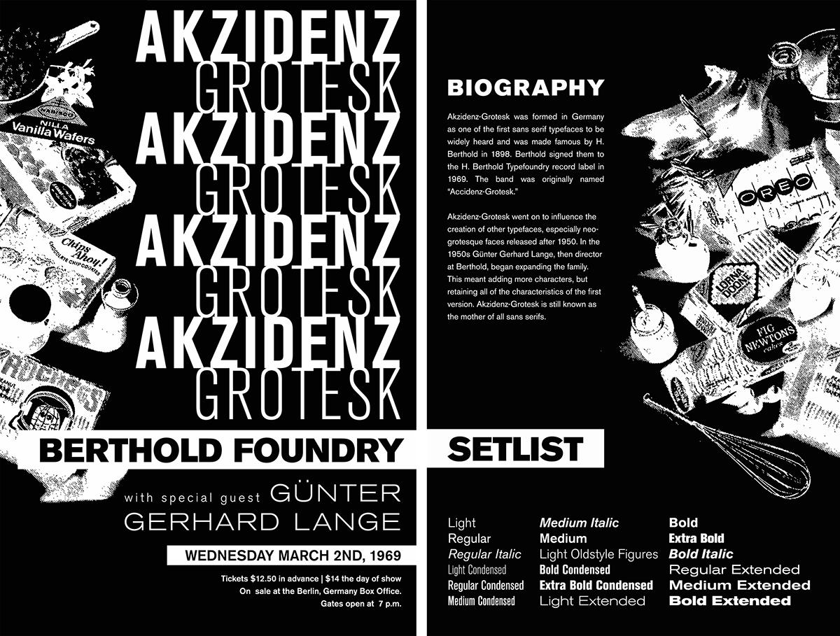 Akzidenz-Grotesk   Poster on Behance