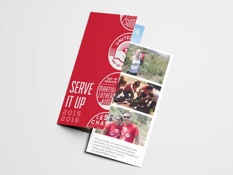 shirt design icons badge event brochure community service University student affairs one color design trifold screen printed
