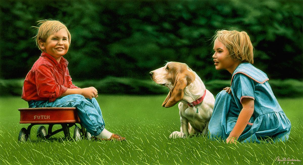 Adobe Portfolio portraits illustrations children animals pets