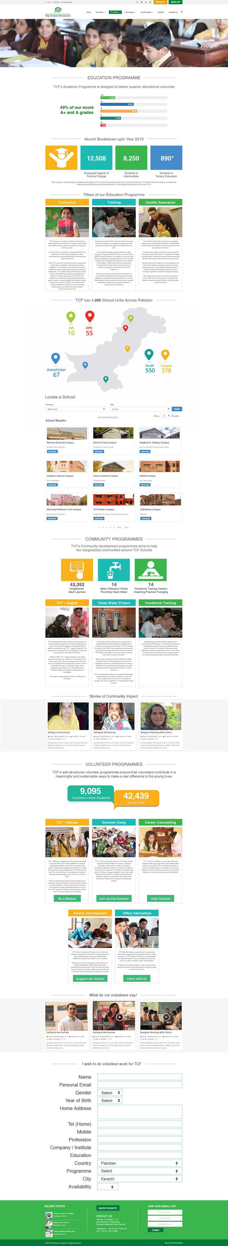 graphic design Web site UI/UX brand TCF foundation citizen school
