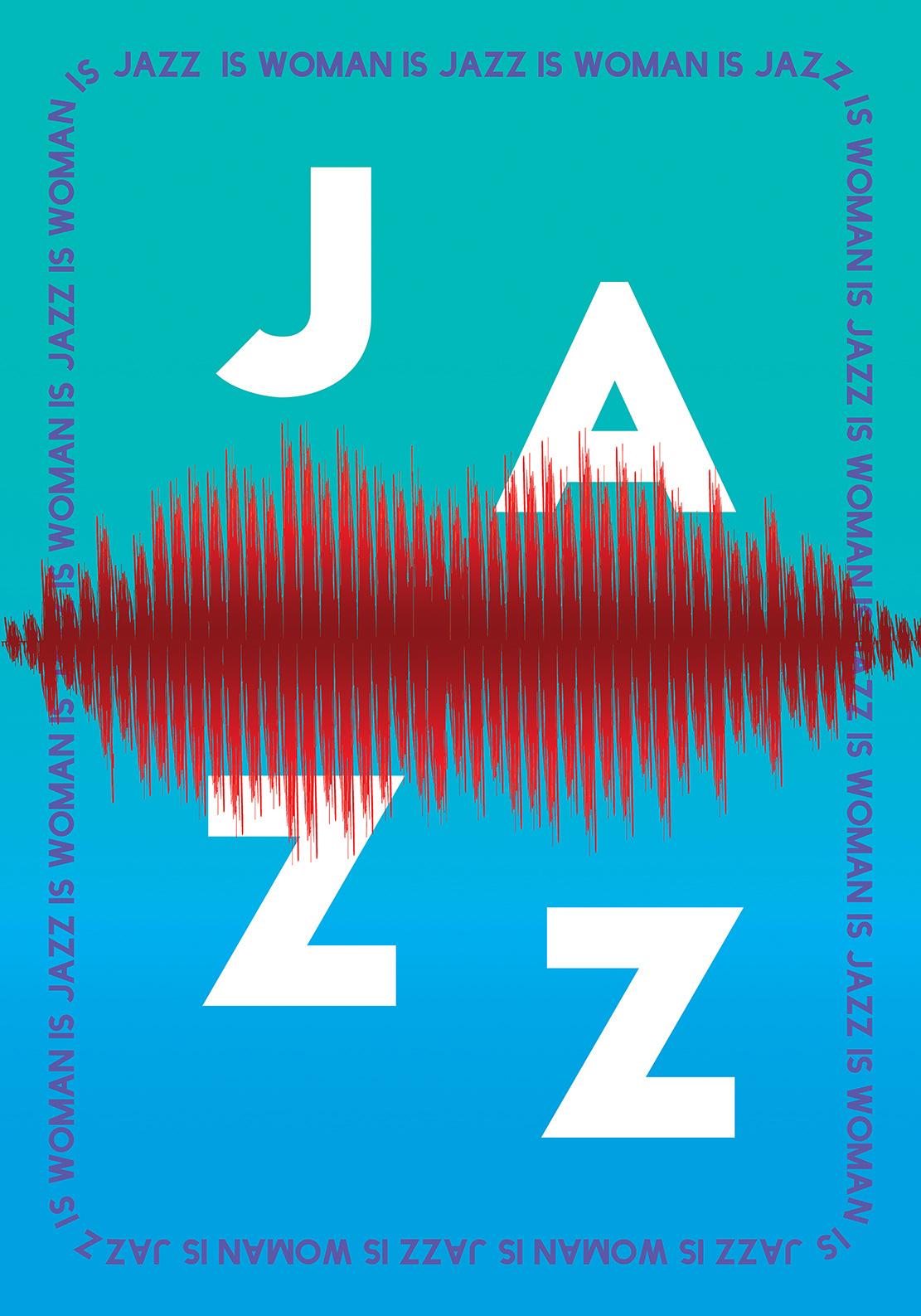 jazz poster woman graphic design