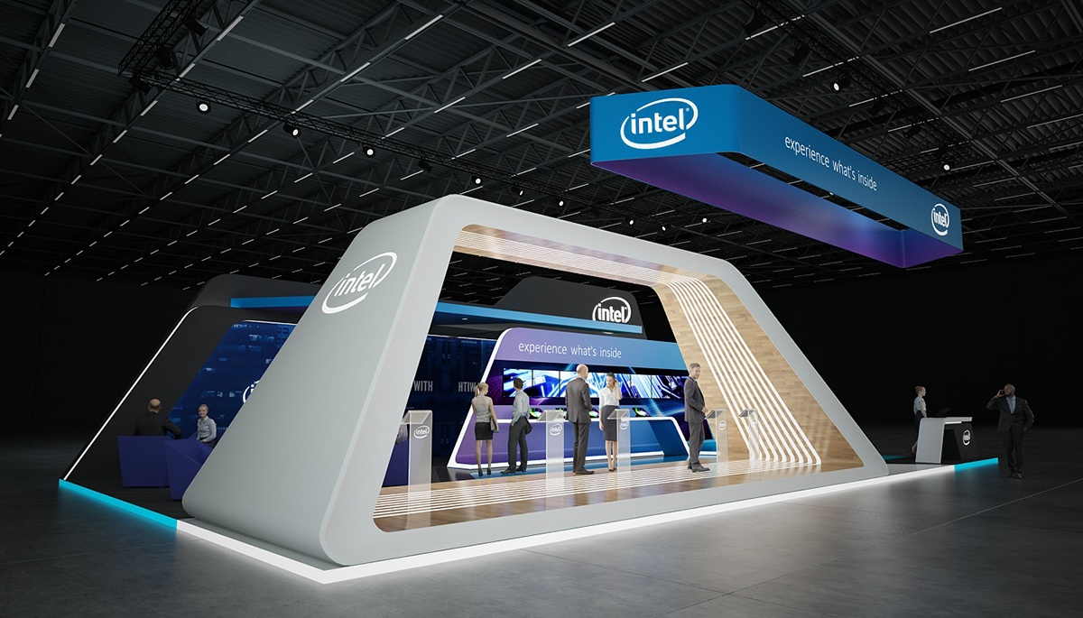 Open Exhibition Stand : Intel exhibition stand on behance