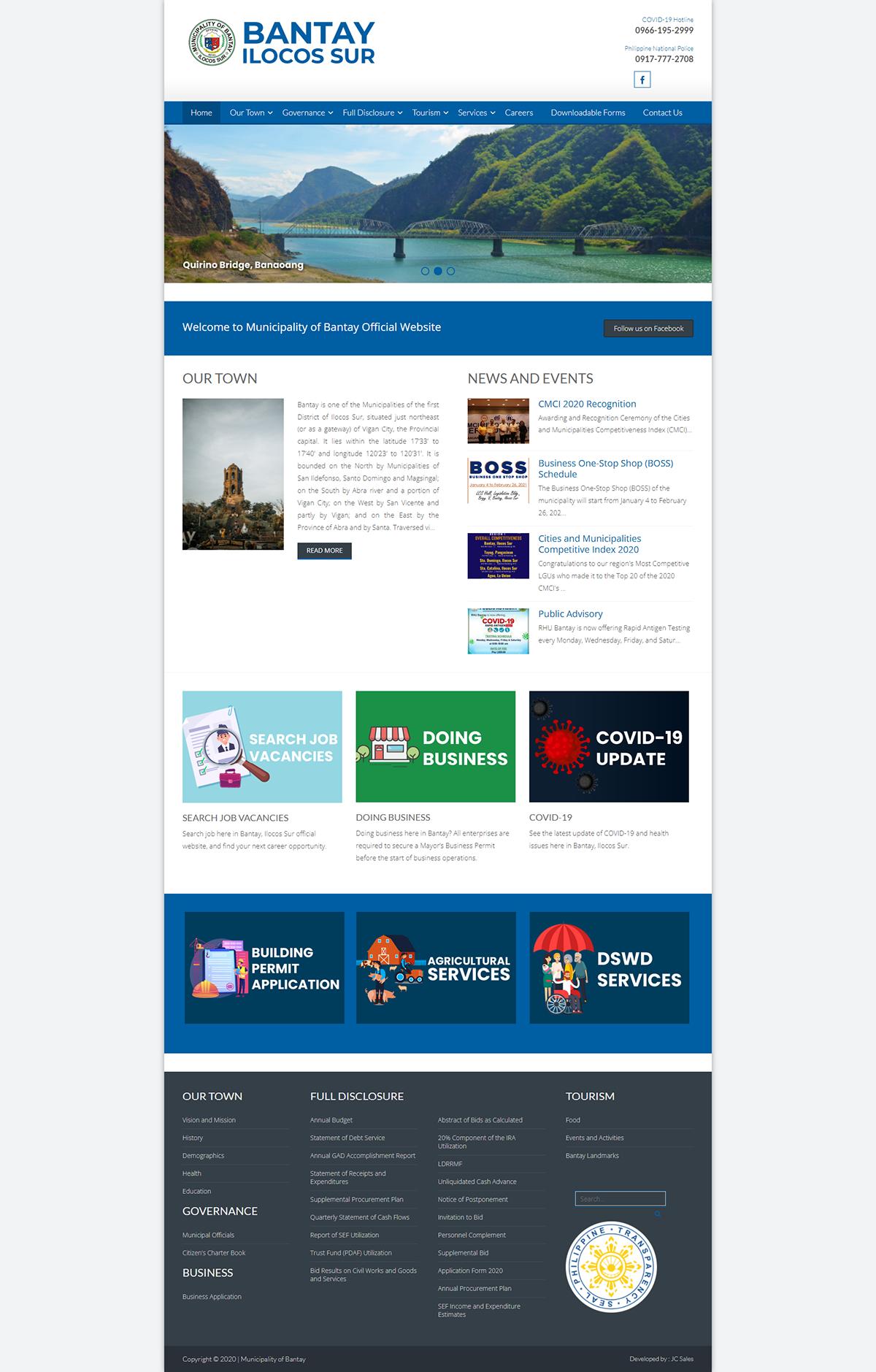 government website Website wordpress