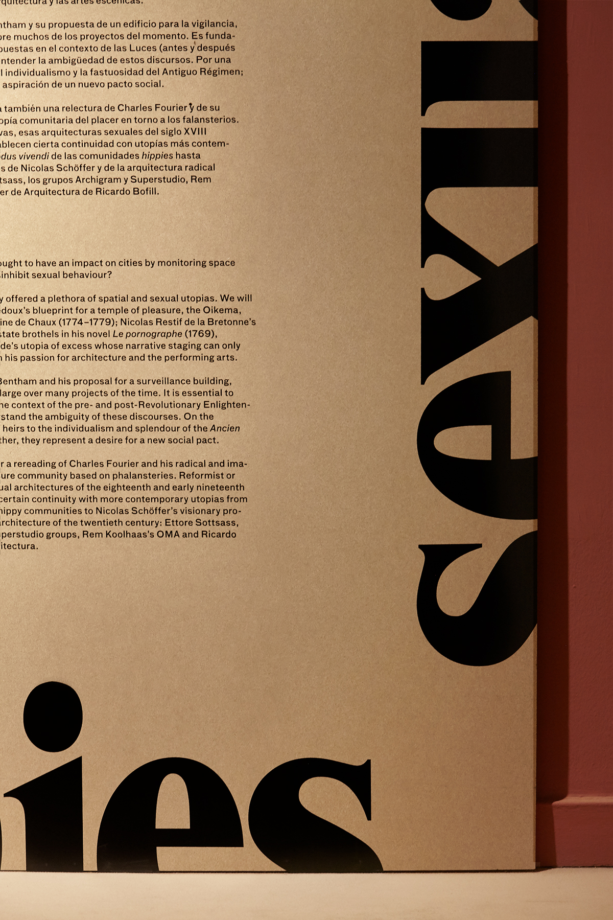 Exhibition  sex architecture cccb typography
