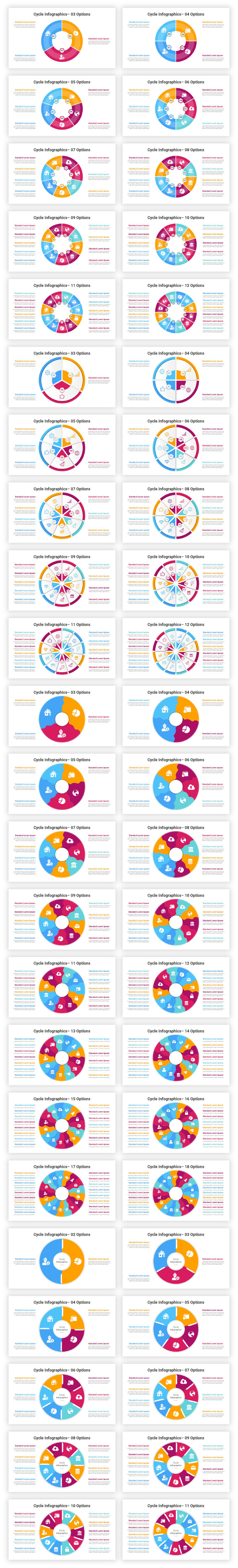 Cycle Infographics PowerPoint Diagrams Template - 1