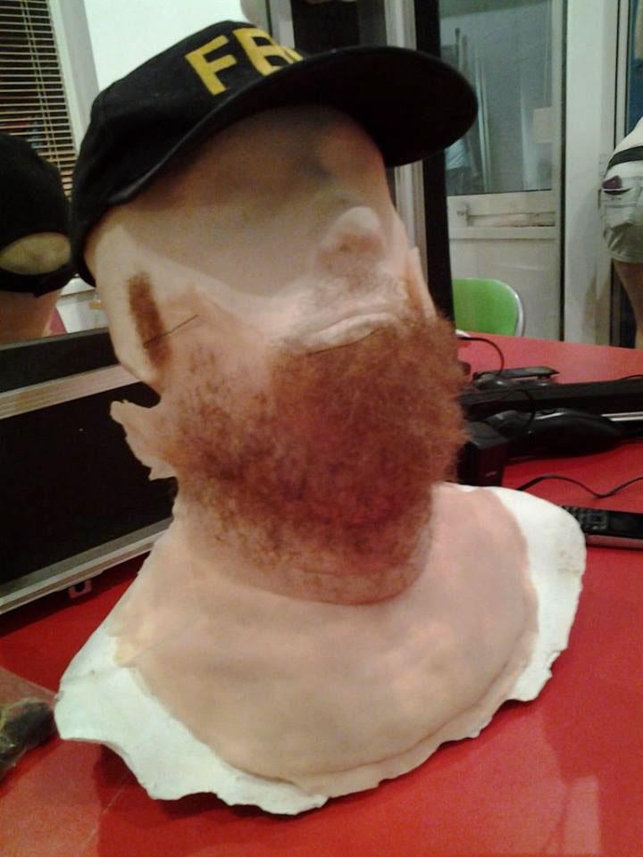 mask silicone cast tv show sfx make-up prosthetics design prosthetics cast face cast Sculpting mask