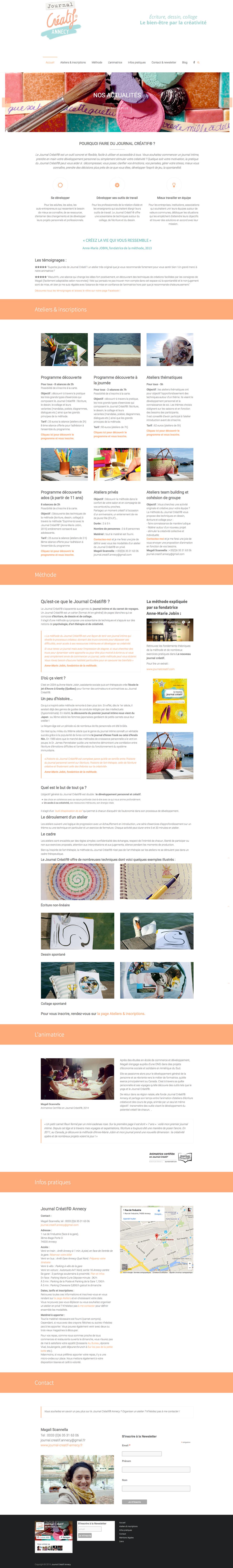 Journal Créatif Annecy - Site Web