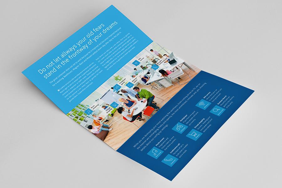 horizontal brochure design - metro horizontal tri fold flyer on behance