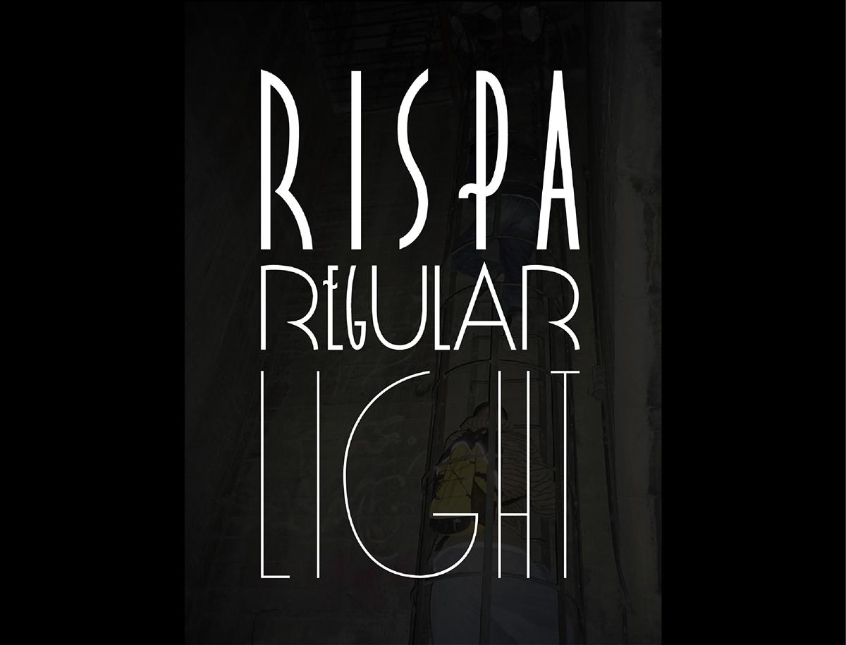 Rispa Paris Typeface font free Classic old school Retro elegant stylish Display poster font design konradbednarski Free font