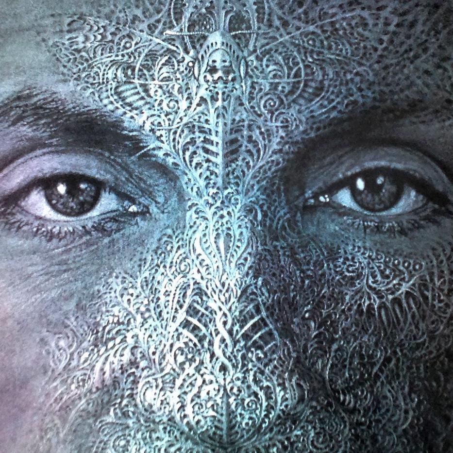 steel handengraving face lenticular Drawing  contemporary modern FINEART
