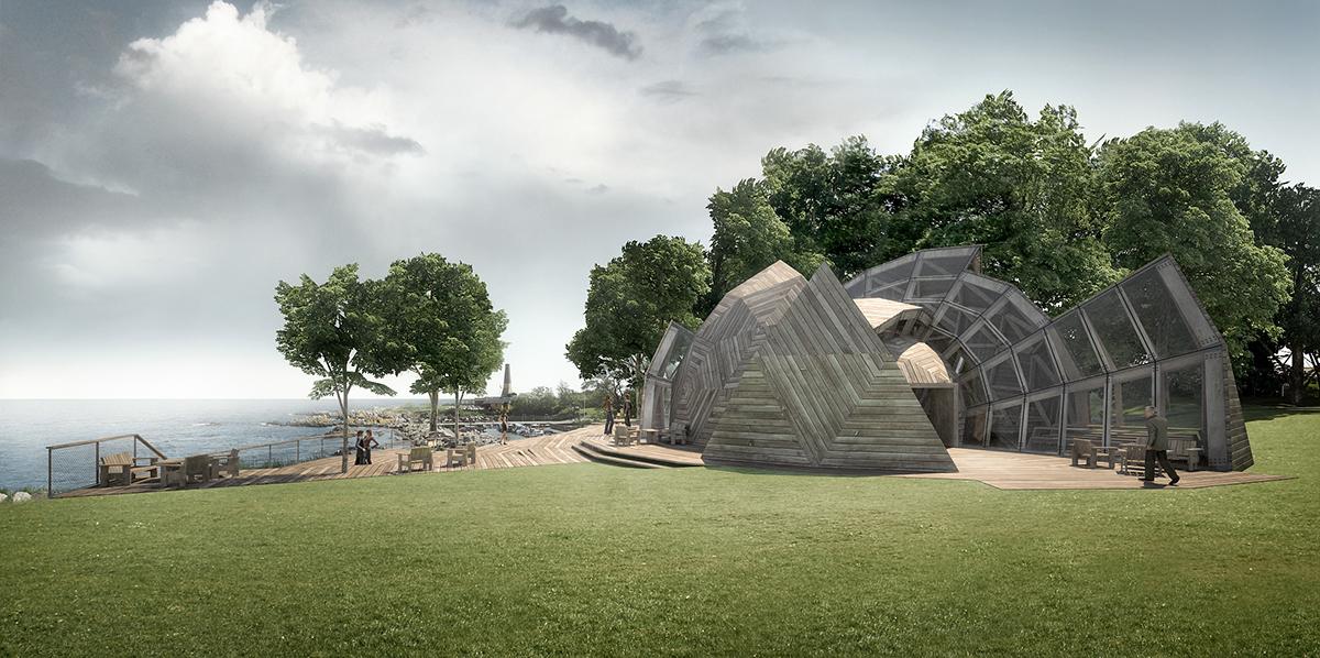 Geodesic deconstructed dome people wood tejlgaard Jepsen almegaard bornholm folkemøde Peoples Meeting