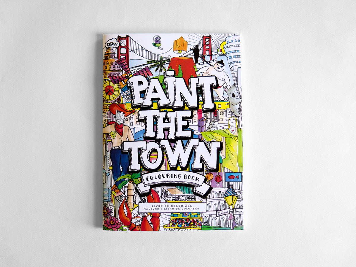 paint the town colouring book on behance