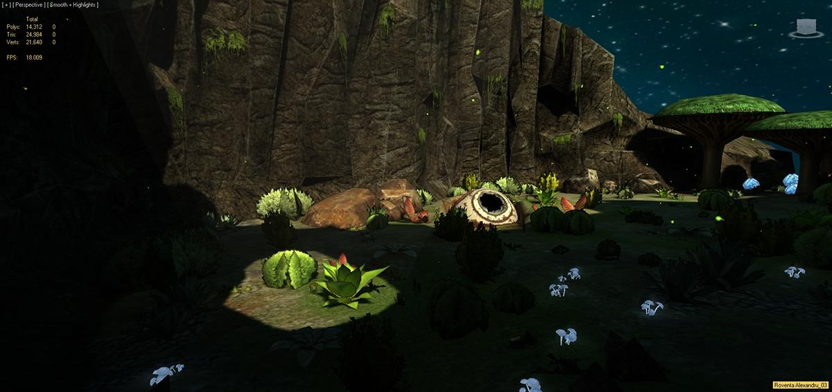 roventa alexandru game design Low Poly 3D 3d max ruver Autodesk environment fantasy SF Light Map