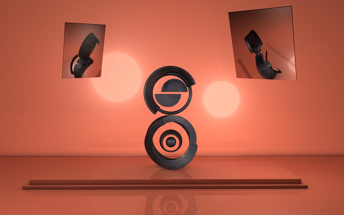 typo graphic cinema 4d 3D CGI PS art design Typeface number