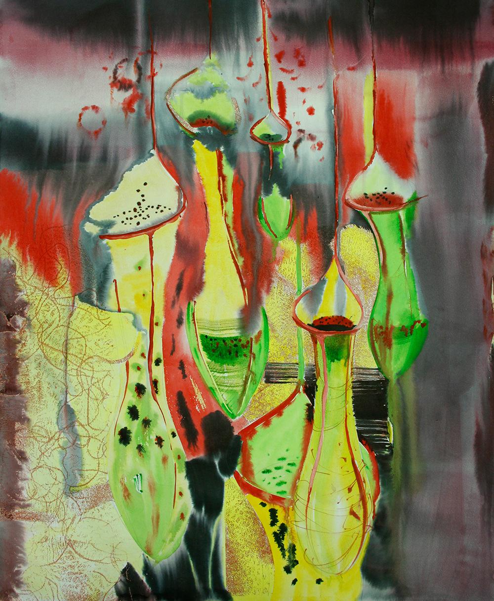 abstraction artist Flowers watercolor акварель астракция иллюстрация цветы