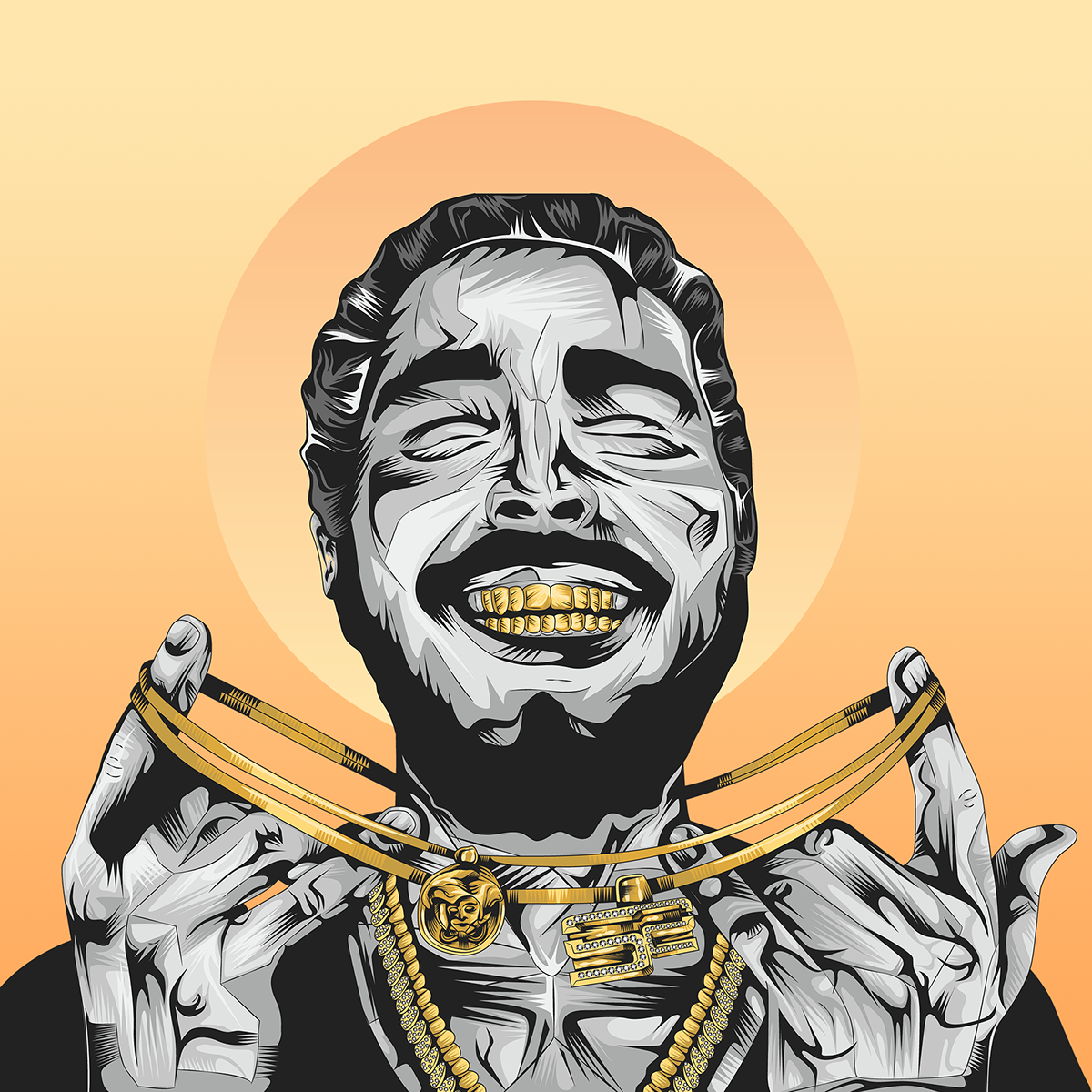 Post Malone Drawing: Post Malone On Behance