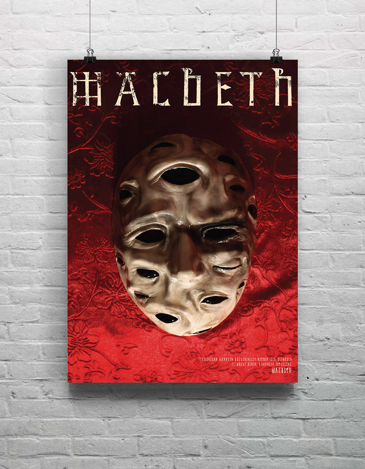 handmade  u0026quot macbeth u0026quot  character masks on behance