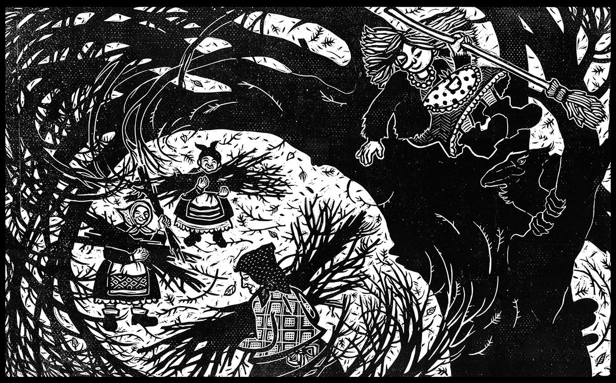 otfried preußler 'die kleine hexe' illustrations on behance