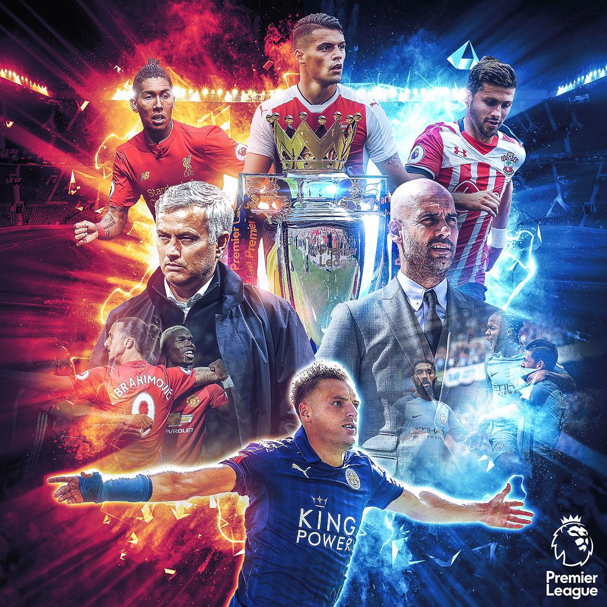 Premier league official social media artwork 1 on behance for Art premier