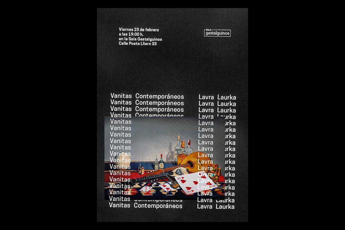 Exhibition  poster Jaime sebastián vanitas brochure painting   dark