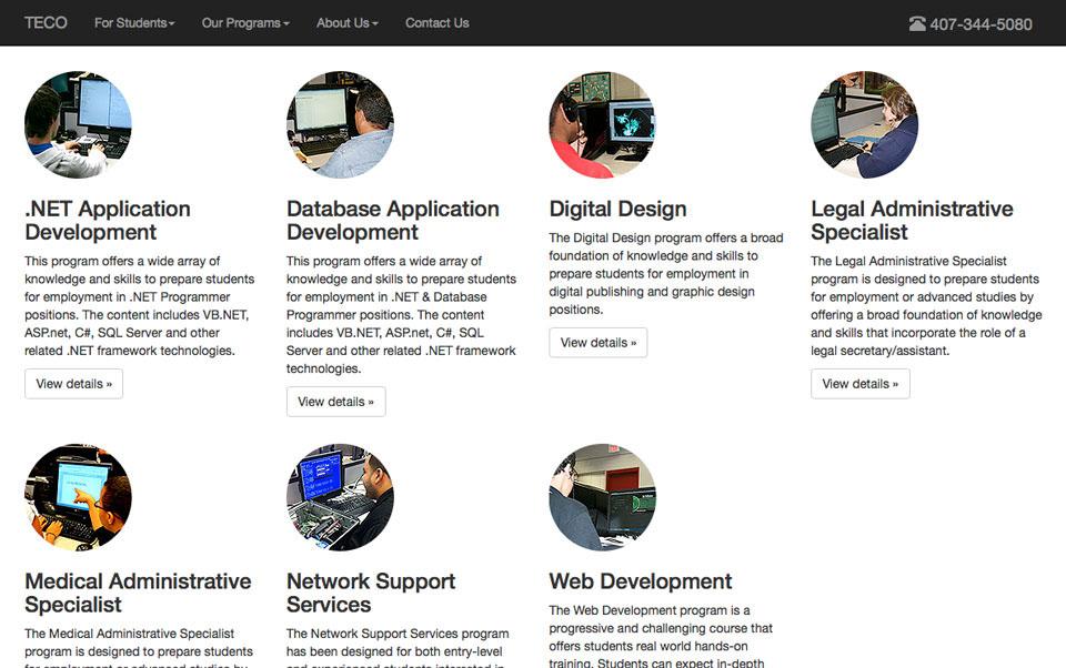 Tech School Website on Behance