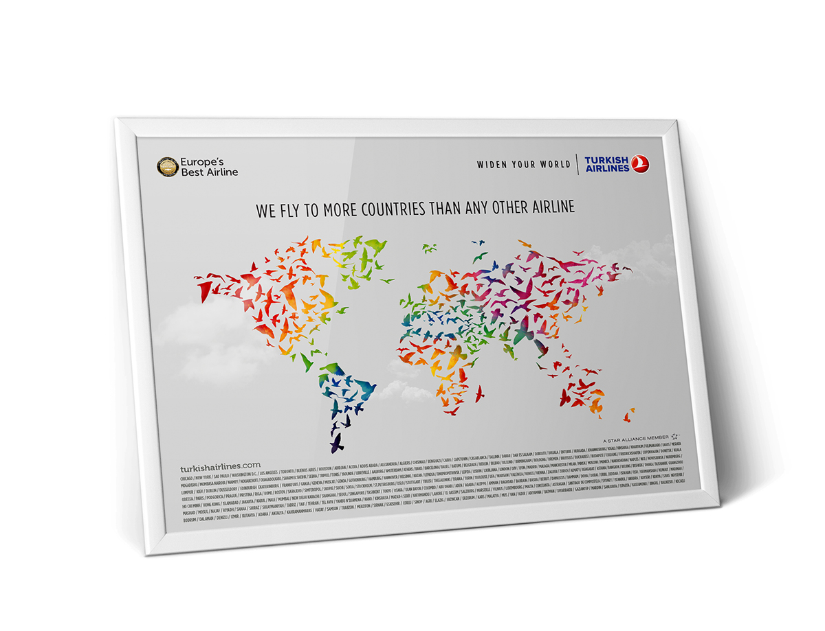 widen your world Turkish Airlines birds networks network map networkmap THY