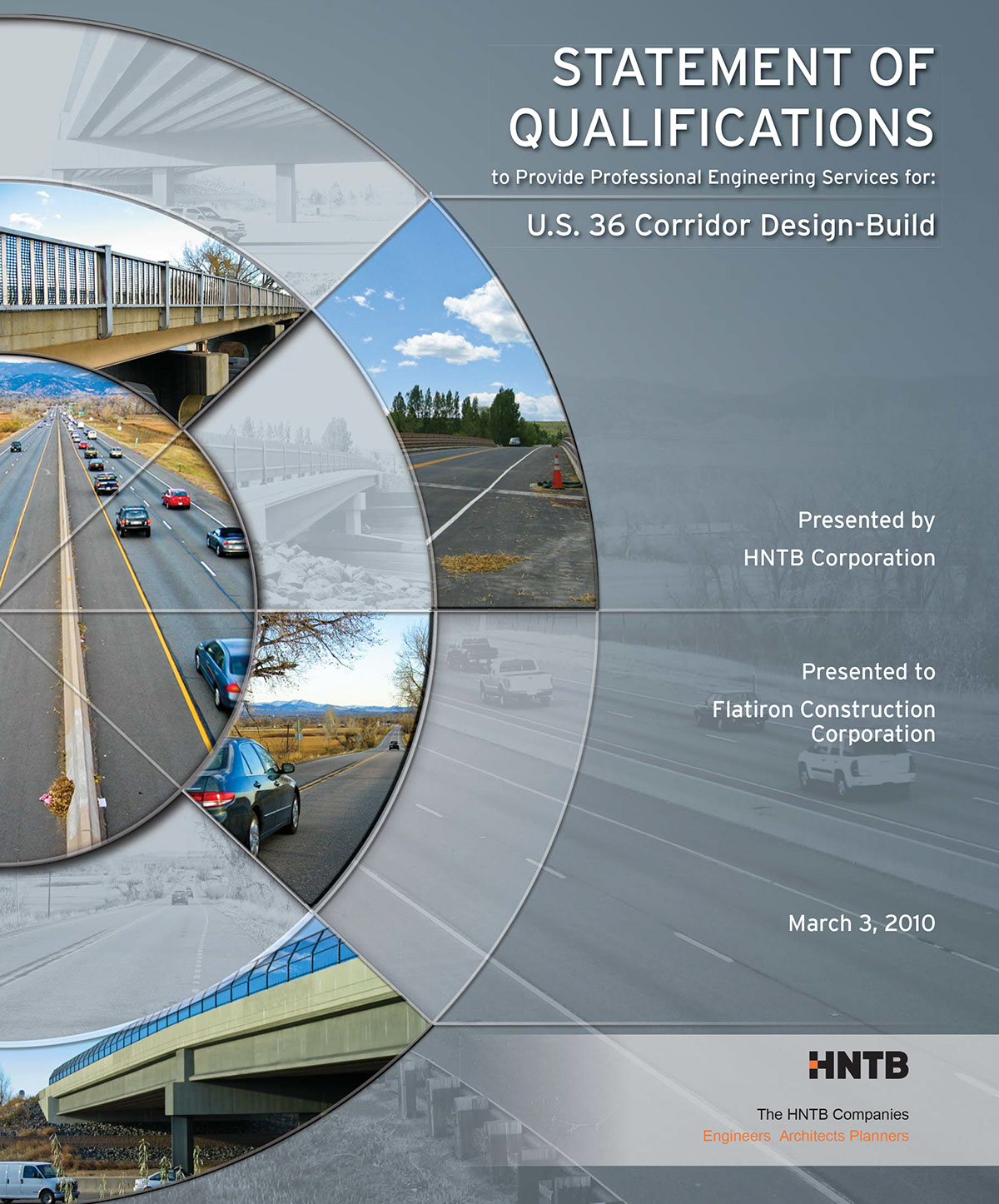 statement of qualifications cover and document design on