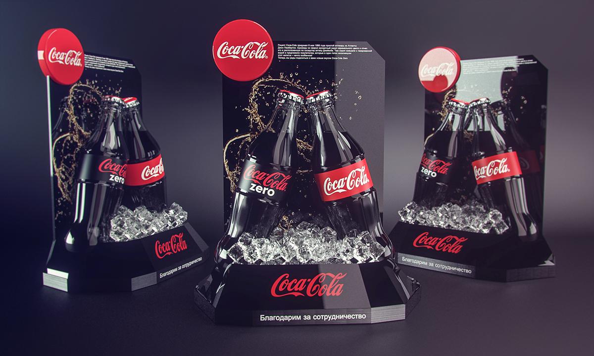 POSM Coca Cola Zero và showroom - Công ty TNHH Quảng cáo Minh Thành L.H.P