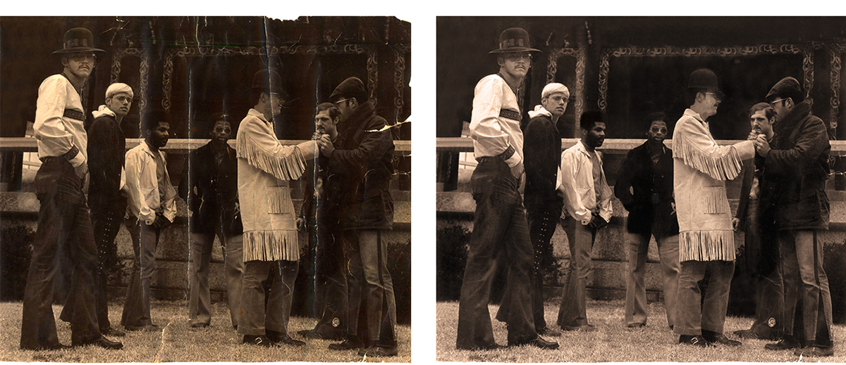 Photography  retouching  historical photo Photo Retouching