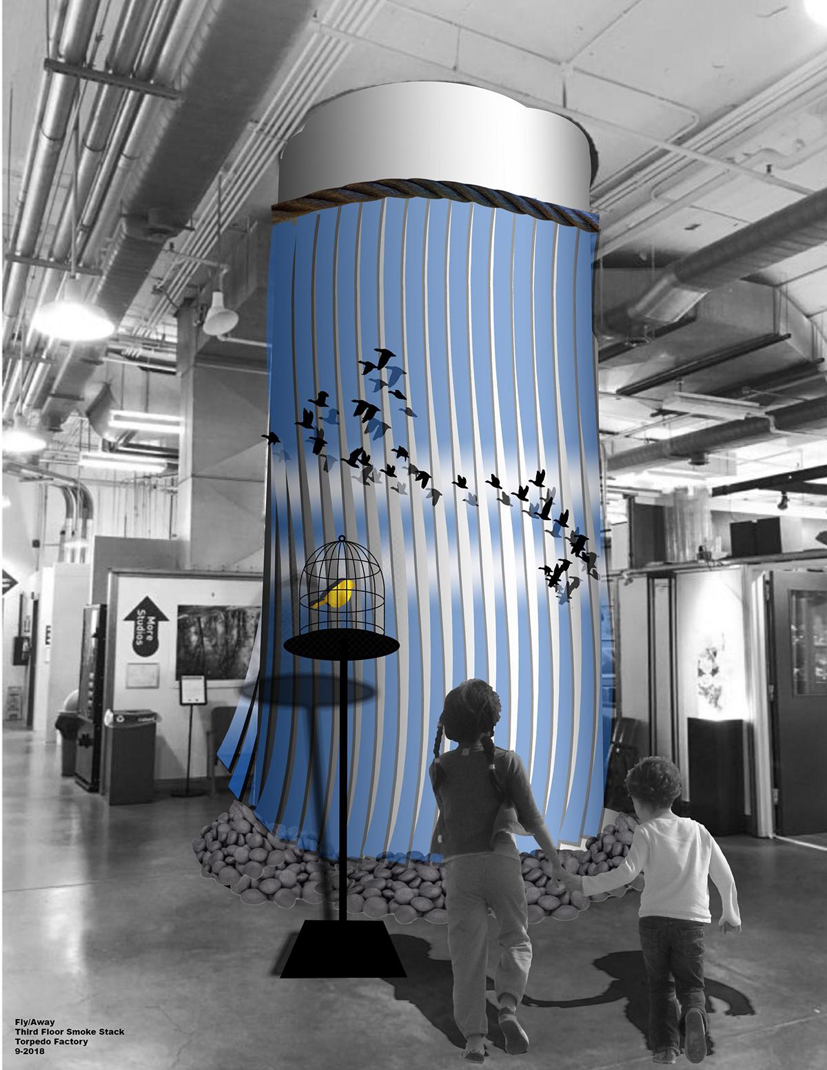 Adobe Portfolio public art Installation Art video art alexandria virginia Torpedo Factory migration FlyWay bird bird migration sculpture maryland artist virginia artist